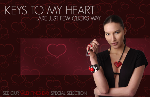 Valentines day special jewellery selection