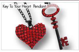 Key To Your Heart Double Chain Long Fashion Pendant [P00124]