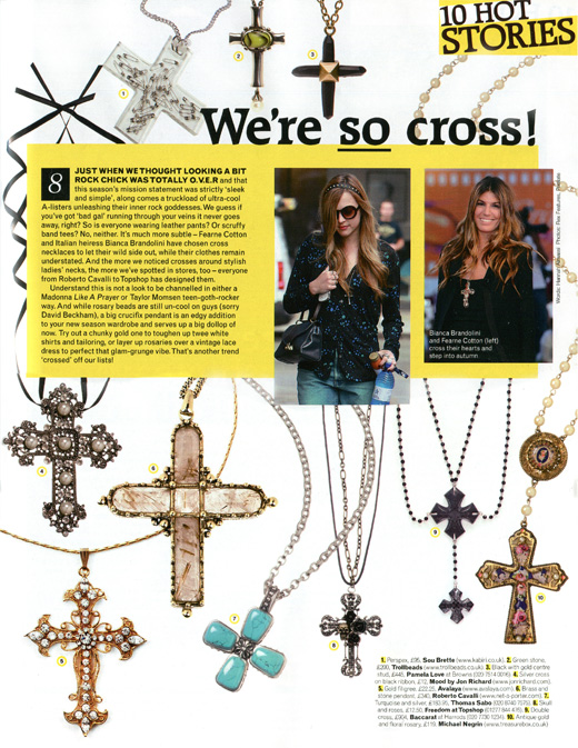 Avalaya.com cross pendant feature on page 47
