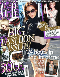 'Grazia' magazine front cover, issue 27 September 2010