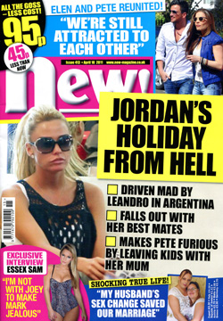 'Now!' magazine front cover, issue 18 April 2011