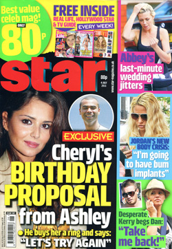 'Star!' magazine front cover, issue 387 4&nbsp;July&nbsp;2011