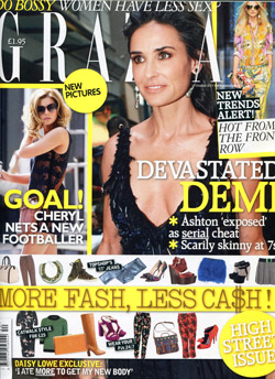 'Grazia' magazine front cover, issue 341 10&nbsp;October&nbsp;2011