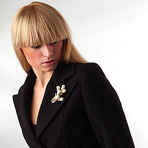 Wear Brooch on Lapel