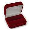 Luxury Red Velour Wedding Two Ring Box