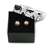 Black/White Card Ring/ Stud Earrings Box