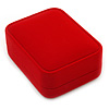 Luxury Red Velour Brooch/ Pendant/ Earring Jewellery Box