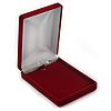 Luxury Burgundy Red Velour Brooch/ Pendant/ Earring/ Hair Accessories Jewellery Box