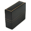 Black Leatherette Bangle/ Watch Box