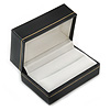 Black Leatherette One & Two Rings Box (Rings are not included)
