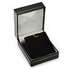 Black Leatherette Stud Earrings/ Pendant Jewellery Box (Jewellery are Not Included)