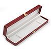 Luxury Burgundy Red Snake Leatherette Bracelet/ Pendant/ Watch Jewellery Box