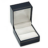 Dark Blue Leatherette Ring Box