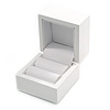 Luxury Wooden Snow White Gloss Ring/ Stud Earrings Box (Rings are not included)
