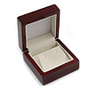 Luxury Wooden Mahogany Gloss Earrings/ Pendant Box (Earrings are not included)