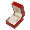 Luxury Wooden Red Mahogany Gloss Earrings/ Pendant Box (Earrings are not included)