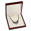 Luxury Large Wooden Mahogany Gloss Necklace/ Pendant/ Set/ Brooch/ Earring Box (Necklace is not included)