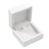 Luxury Wooden Snow White Gloss Earrings/ Pendant Box (Earrings are not included)