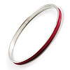 Paspberry Thin Enamel Metal Bangle