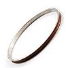 Brown Thin Enamel Metal Bangle