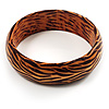 Zebra Print Wood Fashion Bangle