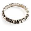 Stylish Metal Mesh Bangle Bracelet (Burnt Silver Tone)