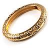 Antique Gold Vintage Inspired Hinged Bangle Bracelet