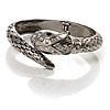 Silver Tone Crystal Snake Bangle Bracelet
