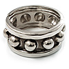 Chunky Studded Hinge Bangle (Burn Silver Tone)
