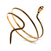 Antique Gold Snake Armlet Bangle