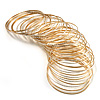 Gold & Silver Tone Slim Textured Metal Bangles - Set of 50Pcs