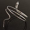 Antique Silver Snake Armlet Bangle