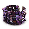 Deep Purple Shell Flex Cuff Bangle