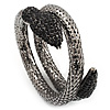 Dazzling Coil Flex Snake Bangle Bracelet (Black Tone)