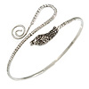 Rhodium Plated Snake Upper Arm Bracelet Armlet - Adjustable