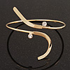 Gold Plated 'Zig-Zag' Armlet Bangle - up to 27.5cm upper arm