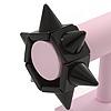 Chunky Black Resin Studded Flex Bracelet - Adjustable