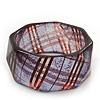 Glittering Faceted Resin 'Tartan Pattern' Bangle Bracelet In Purple/Red - 20cm Length