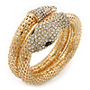 Dazzling Coil Flex Snake Bangle Bracelet (Gold Tone) - Adjustable