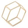 Gold Plated Hexangular Frame Slip-On Bangle Bracelet - 18cm L