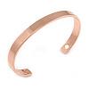 """Copper Classic Men Women Magnetic Cuff Bracelet - Adjustable Size - 7½"""" (19cm )"""
