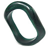 Curvy Forest Green with Marble Effect Resin Bangle Bracelet - 18cm L