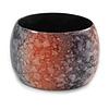 Chunky Wide Black/ Red Marble Effect Wood Bangle Bracelet - 20cm L/ Large