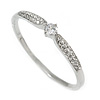 Statement Crystal, Round Cz Bangle Bracelet in Polished Silver Tone Metal - 19cm L