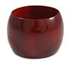 Wide Mahogany Red Wood Bangle Bracelet