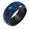 Blue/ Black Wood Bangle Bracelet