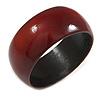 Mahogany Red Wood Bangle Bracelet(Possible Natural Irregularities)