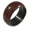 Brown Wood Bangle Bracelet(Possible Natural Irregularities)