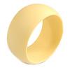 Off Round Acrylic Bangle Bracelet In Cream Matte Finish - Medium Size
