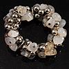 White&Beige Nugget Flex Bracelet